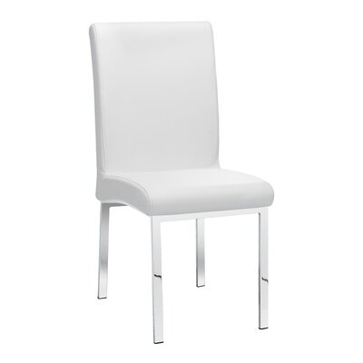 Rocco Side Chair Upholstery: Leather - White