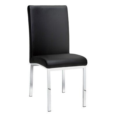 Rocco Side Chair Upholstery: Leather - Black