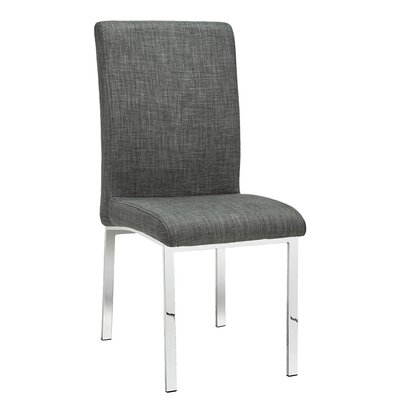 Rocco Side Chair Upholstery: Linen - Gray