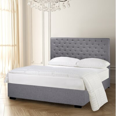Carlo Diamond Tufted Upholstered Panel Bed Size: King, Color: Slate