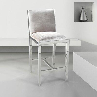 Castle Counter Bar Stool Upholstery: Velvet - Gray