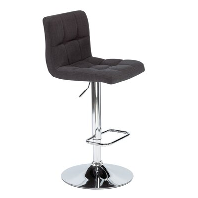 Alene Adjustable Height Swivel Bar Stool Upholstery: Gray