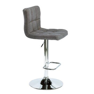 Alene Adjustable Height Swivel Bar Stool Upholstery: Slate