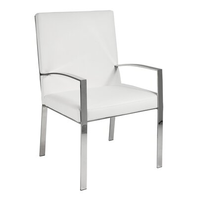 Almodovar Faux Leather Accent Armchair Finish: Steel