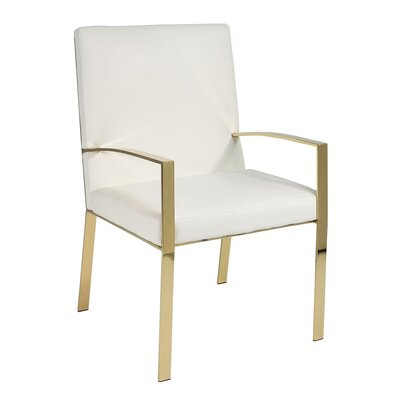 Almodovar Faux Leather Accent Armchair Finish: Gold