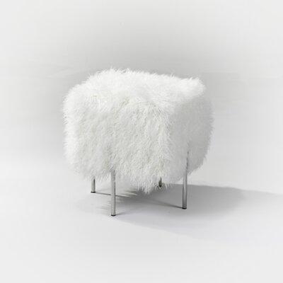 Almendarez Shaggy Fur Ottoman