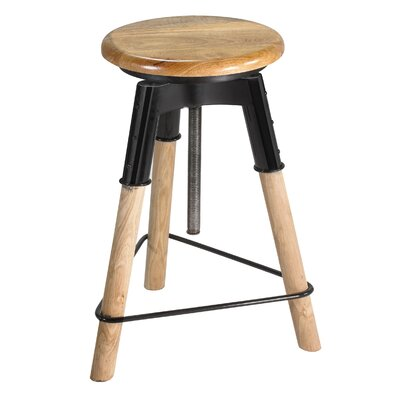 Arnav 25 Adjustable Height Swivel Bar Stool Finish: Natural
