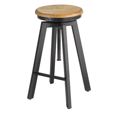 Shivansh 27 Adjustable Height Swivel Bar Stool