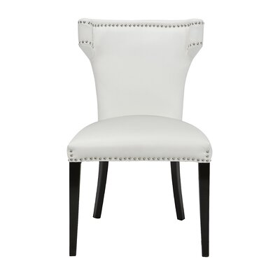Bode Upholstered Dining Chair Upholstery: White