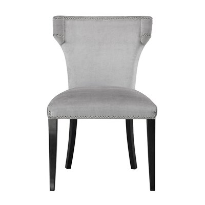 Bode Upholstered Dining Chair Upholstery: Gray