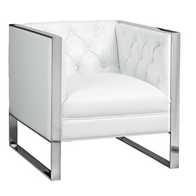Graysen Club Chair Upholstery: White