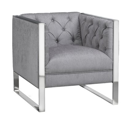 Graysen Club Chair Upholstery: Platinum
