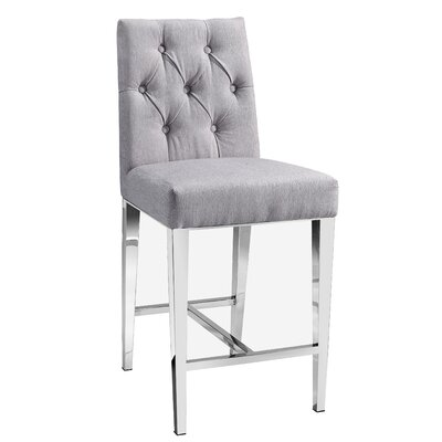 Maison Bar Stool Color: Platinum