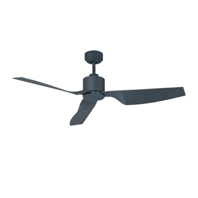 50 Hutton 3 Blade Ceiling Fan with Remote Finish: Charcoal