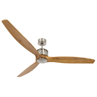 60 Hutton 3 Blade Ceiling Fan with Remote Finish: Teak