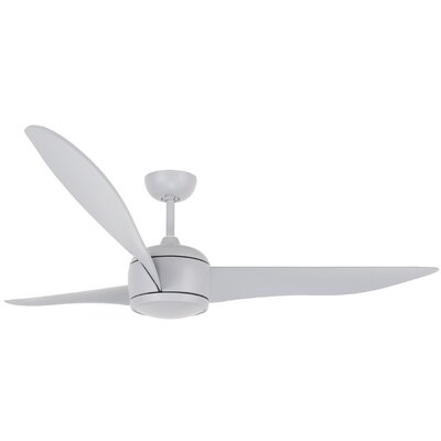 56 Cathcart 3 Blade Ceiling Fan with Remote Finish: Gray