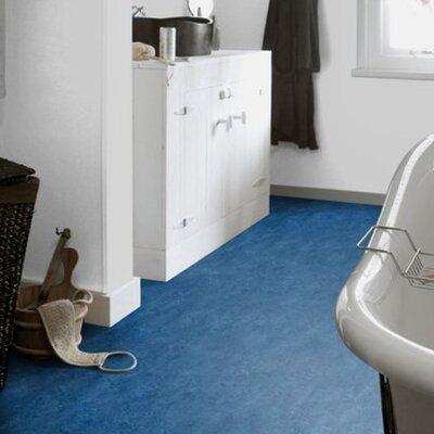 Marmoleum Click Cinch Loc 11.81 x 35.43 x 9.9mm Cork Laminate in Blue