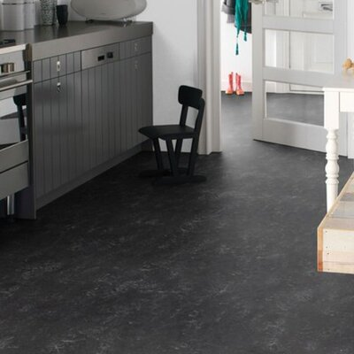 Marmoleum Click Cinch Loc 11.81 x 35.43 x 9.9mm Cork Laminate in Black