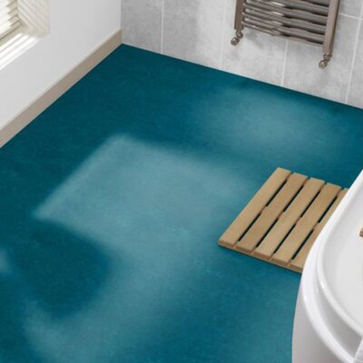 Marmoleum Click Cinch Loc 11.81 x 35.43 x 9.9mm Cork Laminate Flooring in Blue