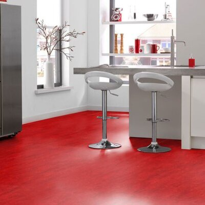 Marmoleum Click Cinch Loc 11.81 x 35.43 x 9.9mm Cork Laminate in Red