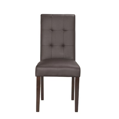 Lyon Parson Chair (Set of 2) Upholstery: PU - Brown