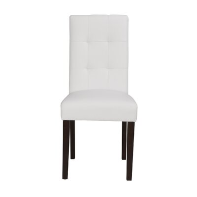 Lyon Upholstered Dining Chair (Set of 2) Color: White