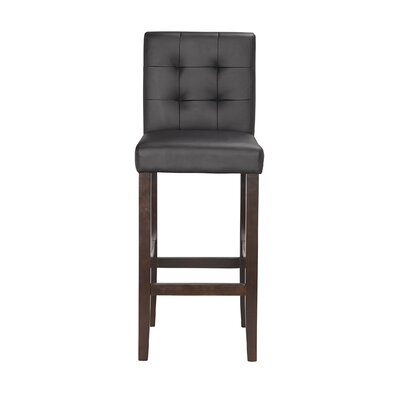 Lyon 29 Bar Stool (Set of 2) Upholstery: PU - Black