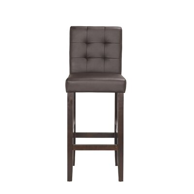 Lyon 29 Bar Stool (Set of 2) Upholstery: PU - Brown