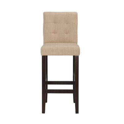 Lyon 29 Bar Stool (Set of 2) Upholstery: Linen - Khaki