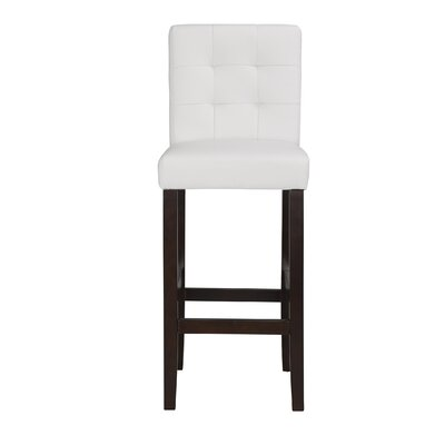 Lyon 29 inch Bar Stool (Set of 2) Upholstery: PU - White
