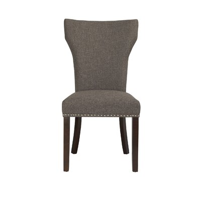Monaco Side Chair (Set of 2) Upholstery: Steel / Gray