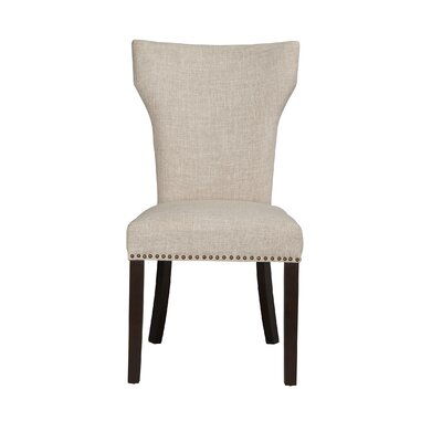 Monaco Parson Chair (Set of 2) Upholstery: White / Sand