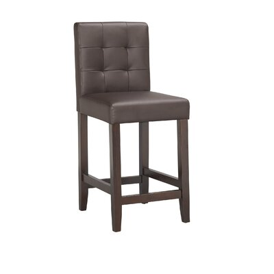 Lyon 24 Bar Stool (Set of 2) Upholstery: PU - Brown