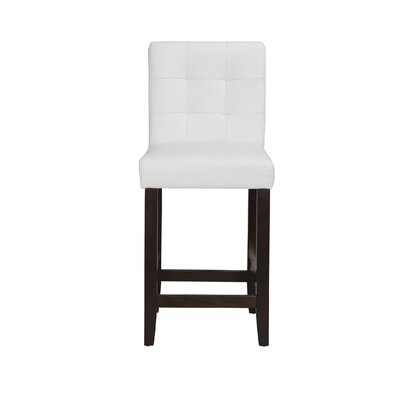 Lyon 24 Bar Stool (Set of 2) Upholstery: PU - White