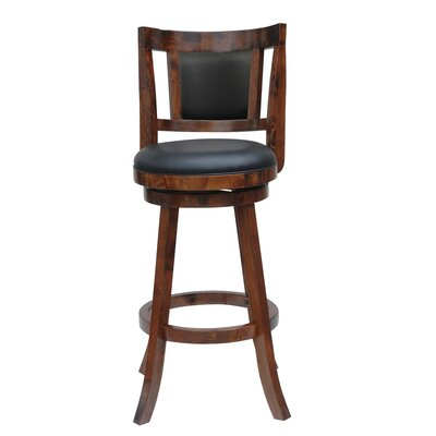 Goehring 24 Swivel Bar Stool Finish: Walnut