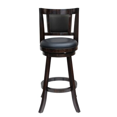 Avianna 24 Swivel Bar Stool Finish: Cappuccino