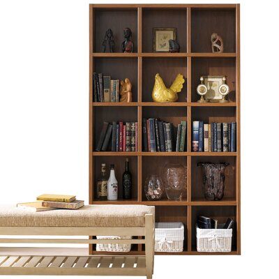 Techny Kline 78 Cube Unit Bookcase Finish: Golden Oak