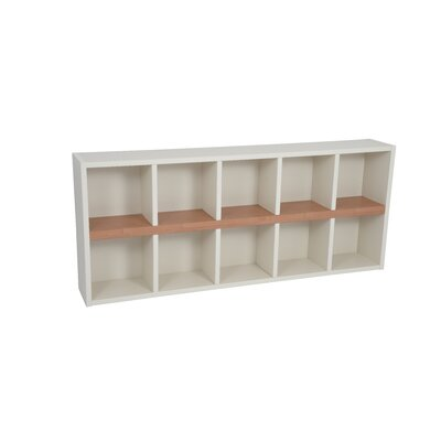Techny Avery 31 Cube Unit Bookcase Finish: Cream / Maple