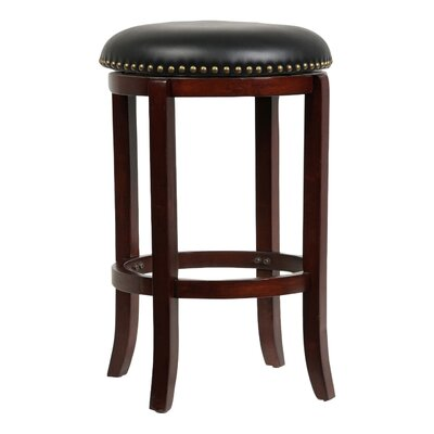 Delavan 24 Swivel Bar Stool Finish: Cherry