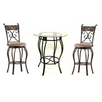 Easy financing Three Piece Beau Metal Pub Set in B...