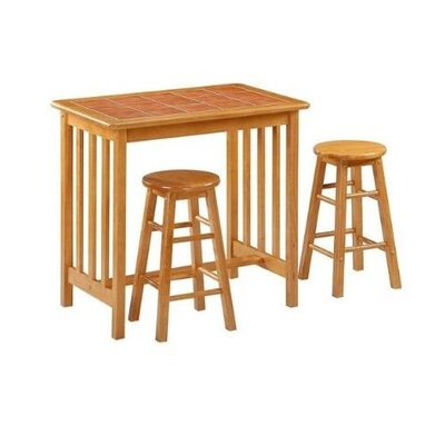 Bad credit financing Mission 3 Piece Dining Set...
