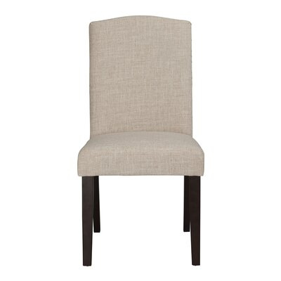 Champagne Parson Chair (Set of 2) Upholstery: White / Sand