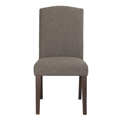 Champagne Parson Chair (Set of 2) Upholstery: Steel / Gray