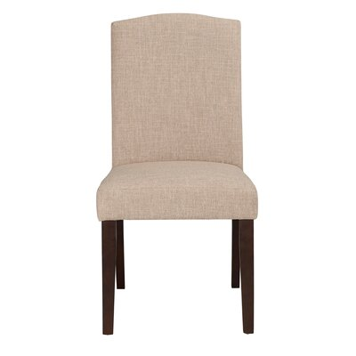 Champagne Parson Chair (Set of 2) Upholstery: Oatmeal