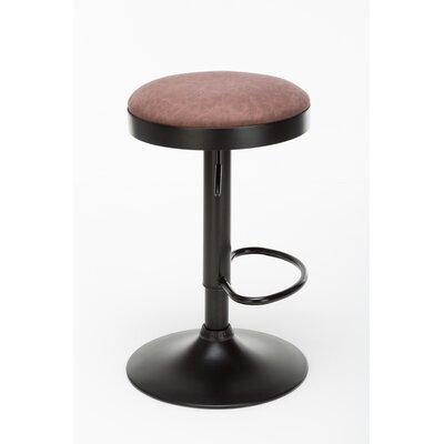 Taya Adjustable Height Swivel Bar Stool Upholstery: Desert Red