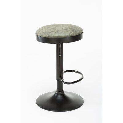 Taya Adjustable Height Swivel Bar Stool Upholstery: Sea Green