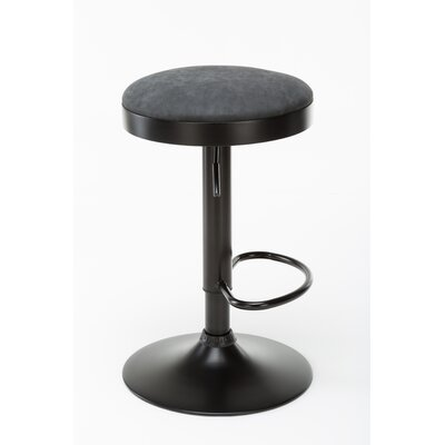 Taya Adjustable Height Swivel Bar Stool Upholstery: Dark Gray