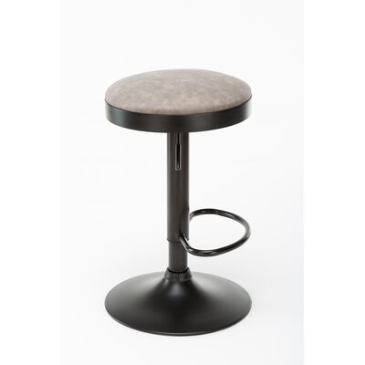 Taya Adjustable Height Swivel Bar Stool Upholstery: Taupe