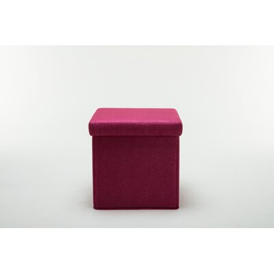 Britany Upholstered Folding Storage Ottoman Color: Pink