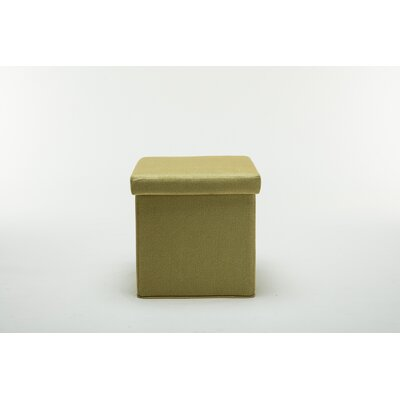 Britany Upholstered Folding Storage Ottoman Color: Mustard Yellow